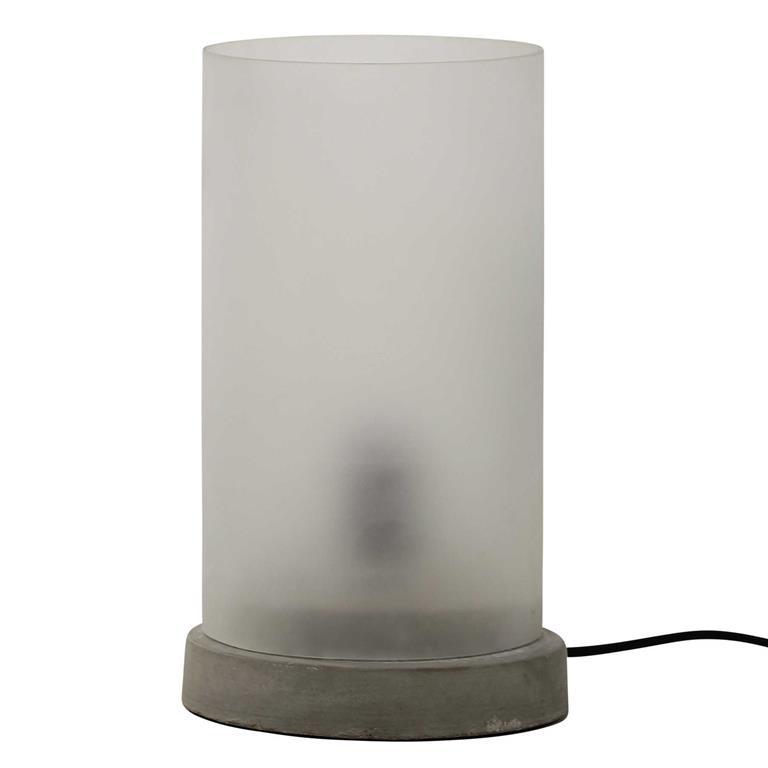 Lampe en ciment et verre H 35 cm BASALTE