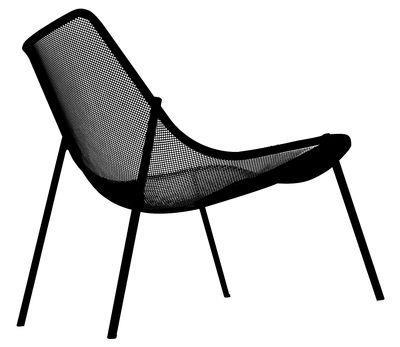 fauteuil bas round m tal emu noir en m tal emu. Black Bedroom Furniture Sets. Home Design Ideas