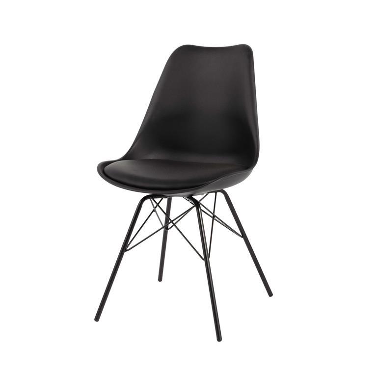 Chaise en polypropylène et métal noire Coventry