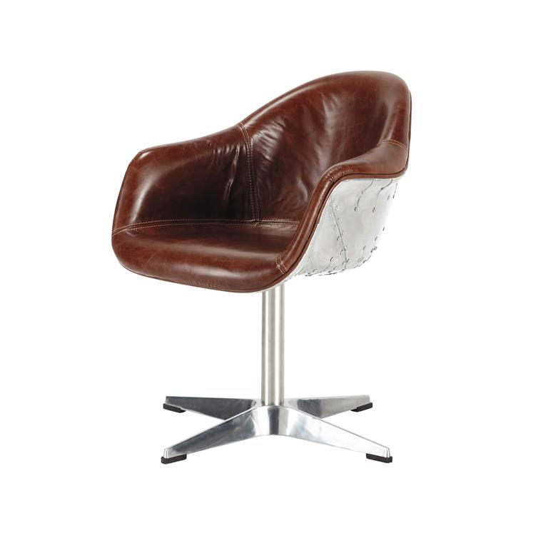 Salon fauteuil - Fauteuil en cuir marron ...