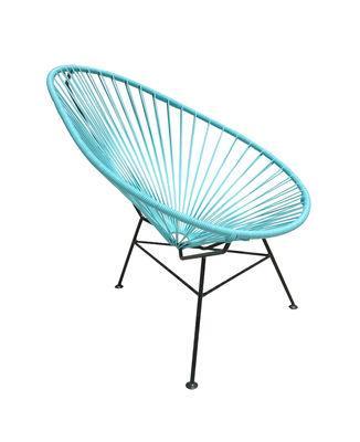 Fauteuil enfant Mini Acapulco - OK Design pour Sentou Edition turquoise en métal
