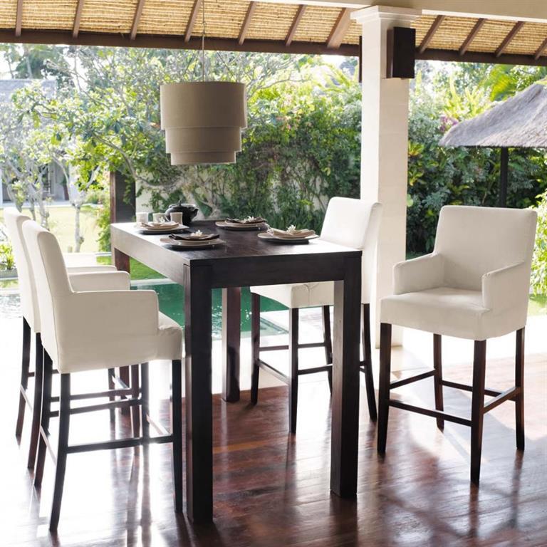 table haute de salle manger en manguier massif l cm bengali maisons du monde table manger