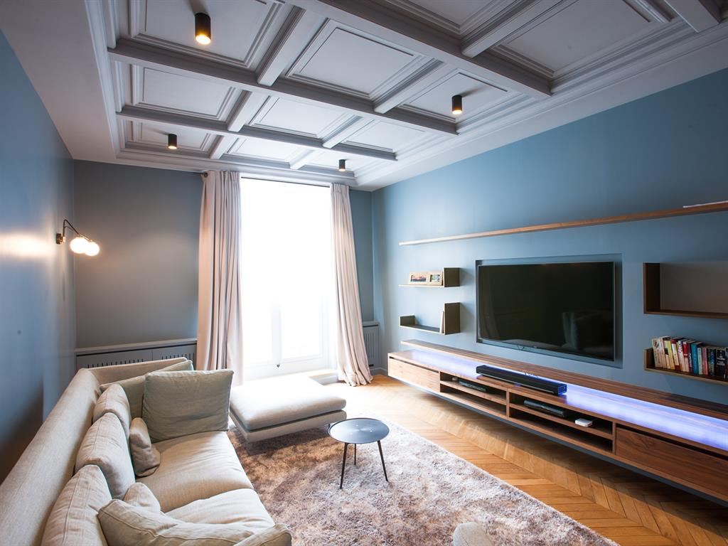 Salles Tv Id E D Coration Salles Tv Et Am Nagement Domozoom # Amenagement Long Mur Salon Tv