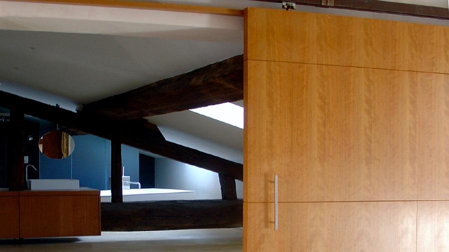 d tail porte coulissante en bois jean yves arrivetz. Black Bedroom Furniture Sets. Home Design Ideas