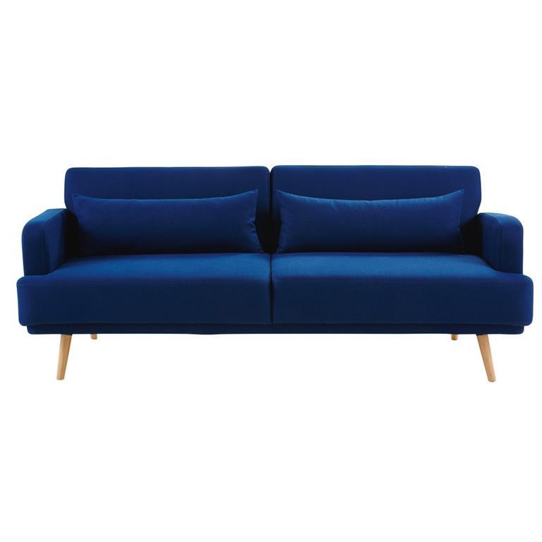 Canapé-lit 3 places bleu roi