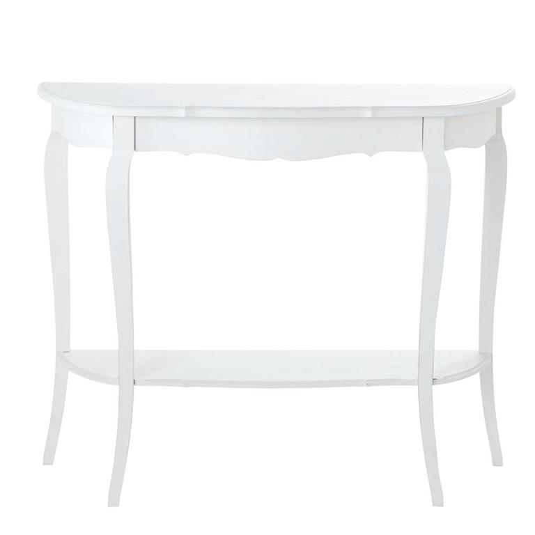 Table console en bois blanche L 94 cm Séraphine