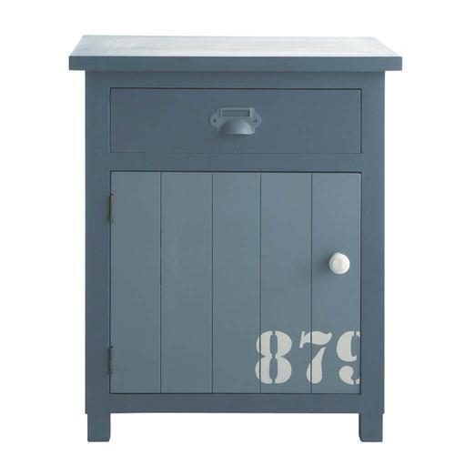 Table de chevet avec tiroir en bois grise Cargo
