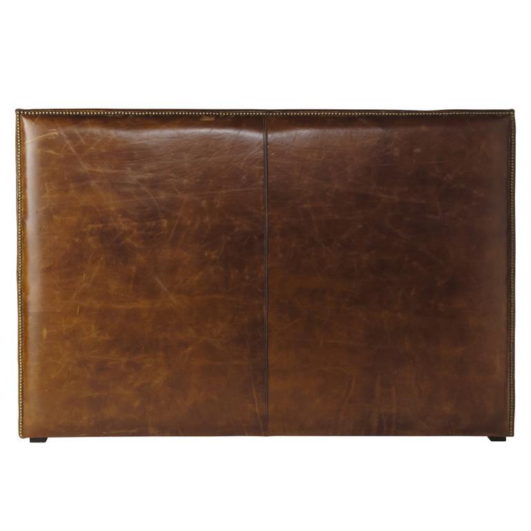 Tête de lit en cuir marron effet vieilli L 160 cm Andrew