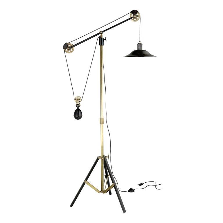 Lampadaire orientable à trépied en métal effet bronze H 178 cm JULIUS