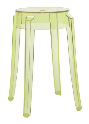 Tabouret empilable charles ghost h 46 cm plastique kartell - Tabouret plastique empilable ...