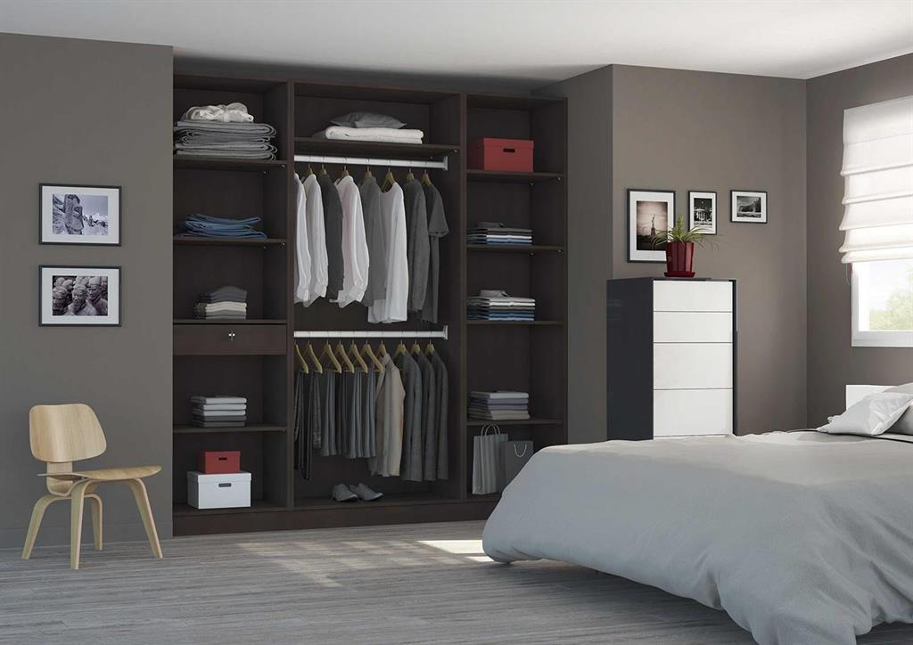 placard am nag en dressing avec portes coulissantes sur. Black Bedroom Furniture Sets. Home Design Ideas