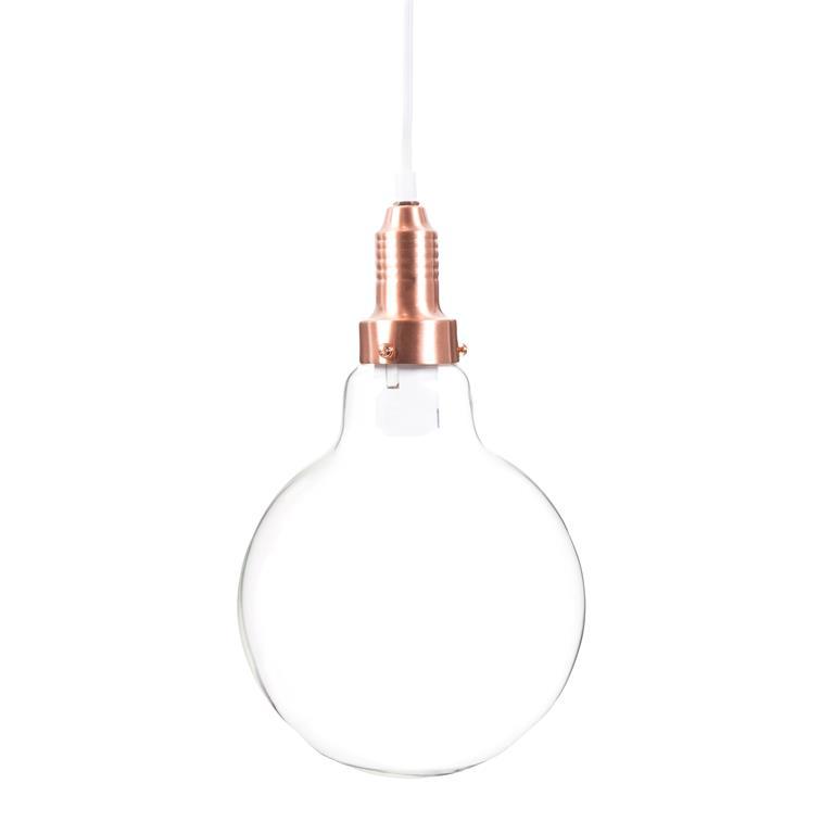 Suspension ampoule en verre et métal cuivré COPPER