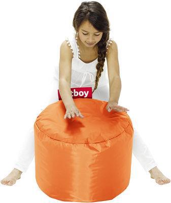 Pouf Point - Fatboy Ø 50 x H 35 cm orange en tissu