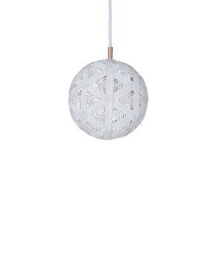 Suspension Chanpen Hexagon / Ø 19 cm - Forestier blanc en tissu