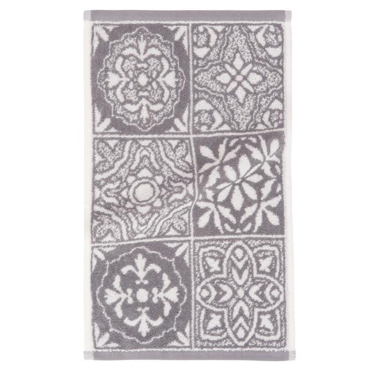 Serviette en coton motifs carreaux de ciment 30x50