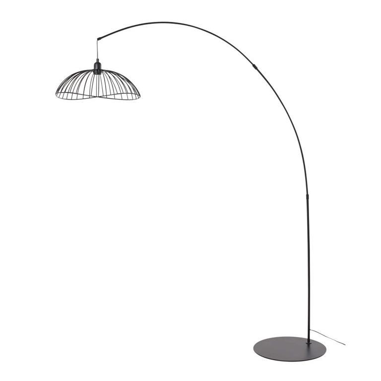 Lampadaire en métal noir H190