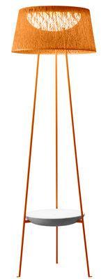 Lampadaire Wind / Table basse intégrée - Vibia Orange en Matière plastique