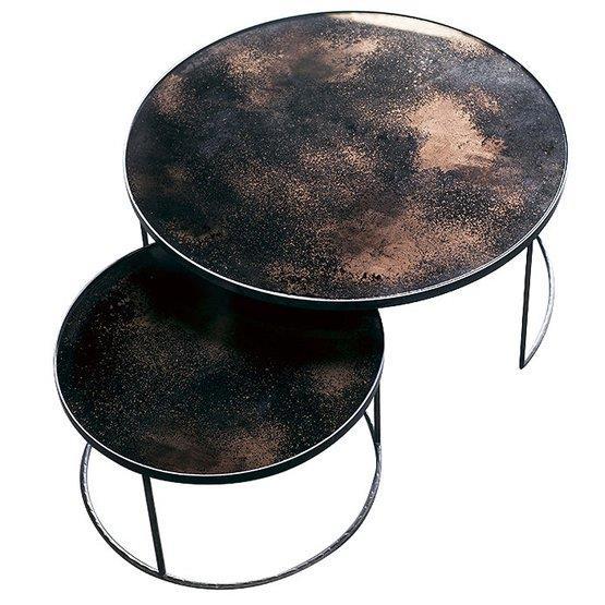 2 Tables basses bronze Nesting Coffee - Notre Monde