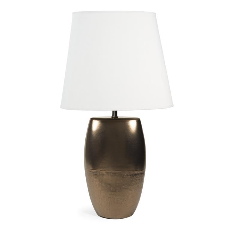 Lampe en céramique et toile H 33 cm DEHRADUN