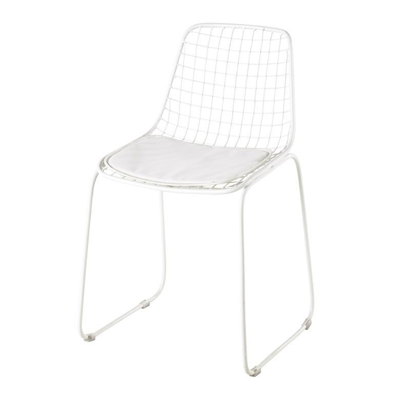 Chaise en métal blanche Picpus