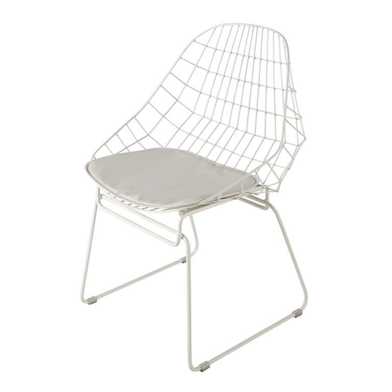 Chaise en métal blanche Orsay