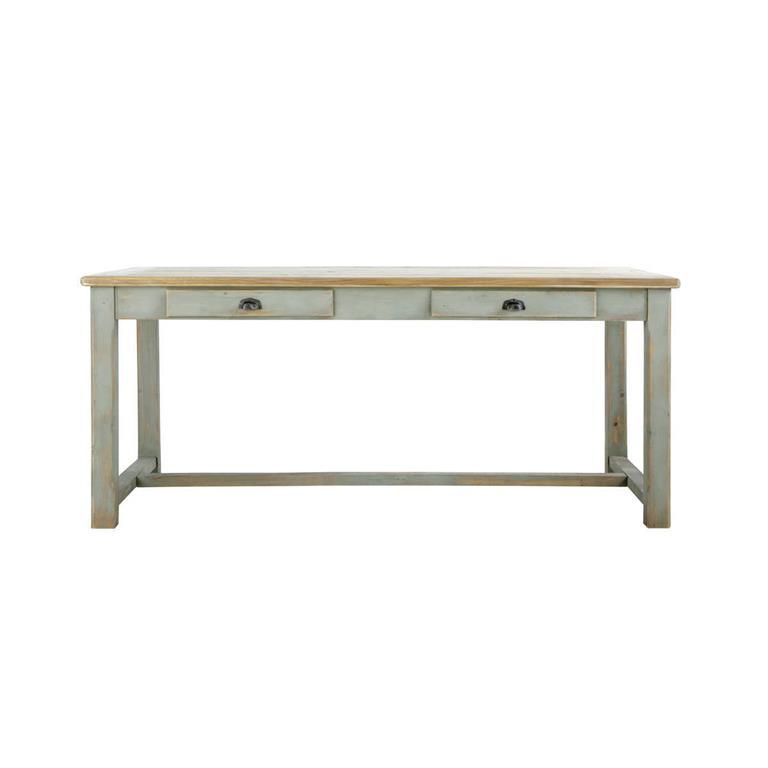 Table de salle à manger en bois grise L 180 cm Sarlat