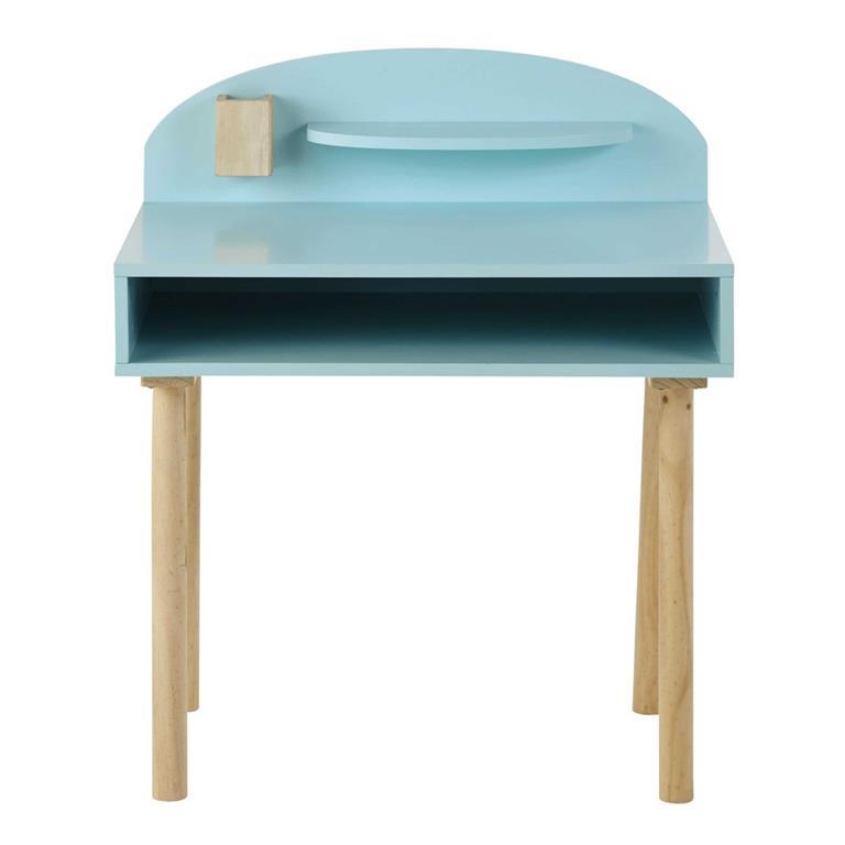Bureau enfant en bois bleu L 70 cm Nuage