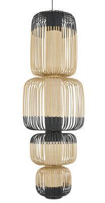 Suspension Totem Bamboo Light / 4 abat-jours - H 135 cm