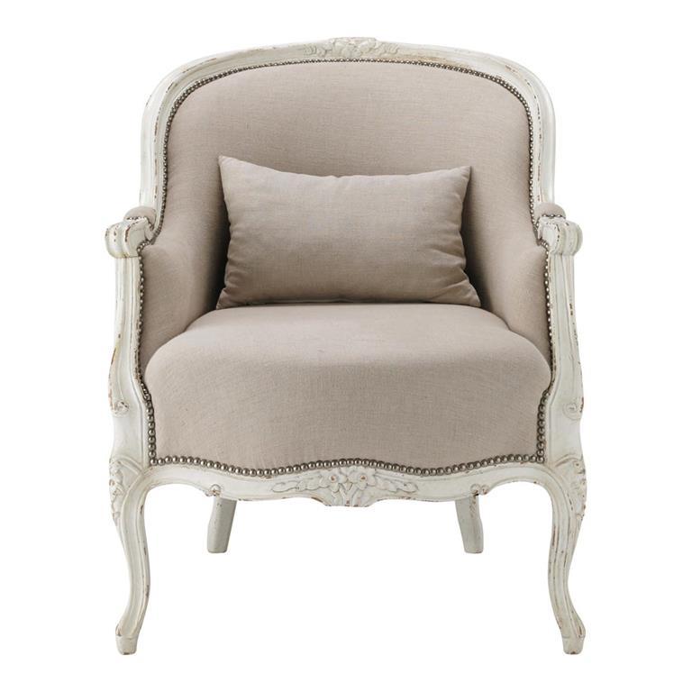 fauteuil en lin montpensier