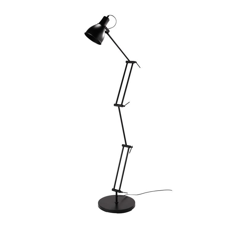 Lampadaire orientable en métal noir H 151 cm ARCHY