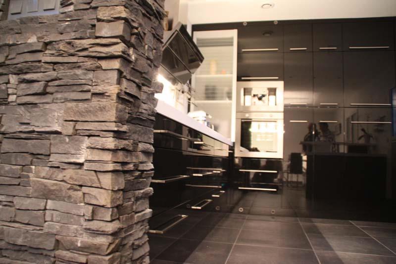 ... Cuisine Cuisine Moderne Mur En Pierre 1000 Id Es Sur For Cuisine Mur En  Pierre ...