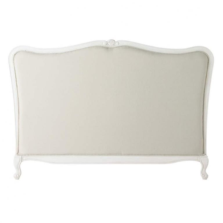 Tête de lit en bois massif et coton L 160 cm Joséphine