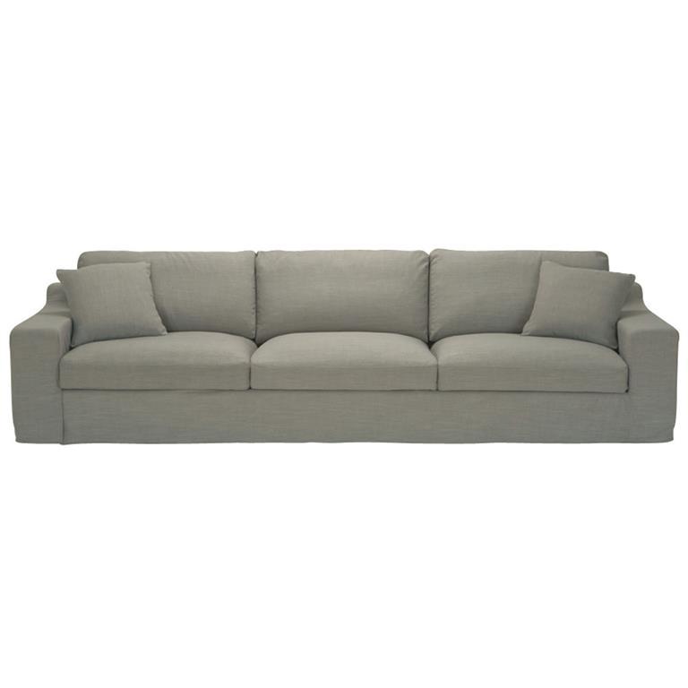 Canapé 5 places en tissu gris Stuart
