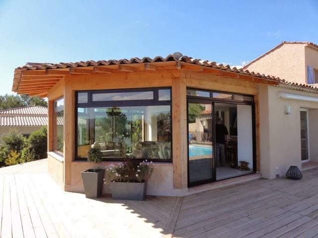 Maison bioclimatique avec extension en bois TRIHAB ~ Maison Hexagonale Bois