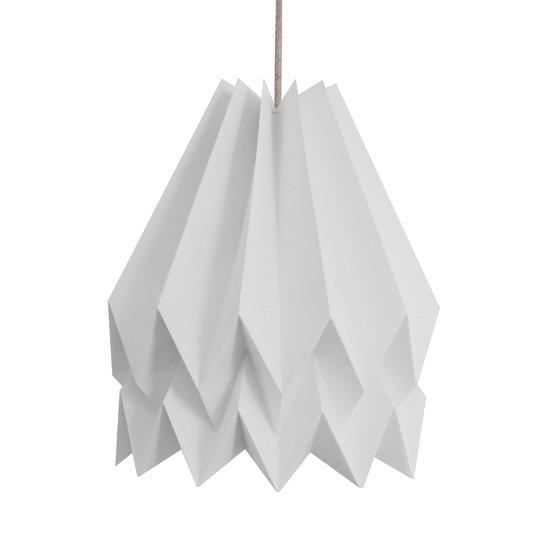 Abat-jour gris clair en papier - Orikomi
