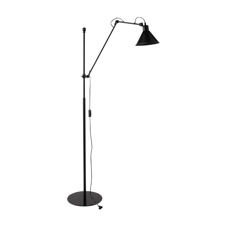 Lampadaire orientable en métal noir H 146 à 195 cm RIVERSTONE