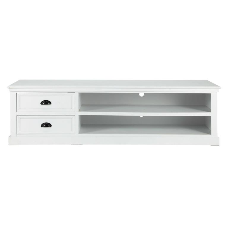 Meuble TV 2 tiroirs blanc