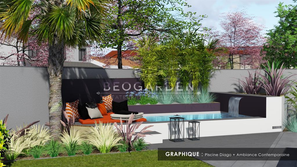 Exemple de réalisation d'une piscine Beogarden