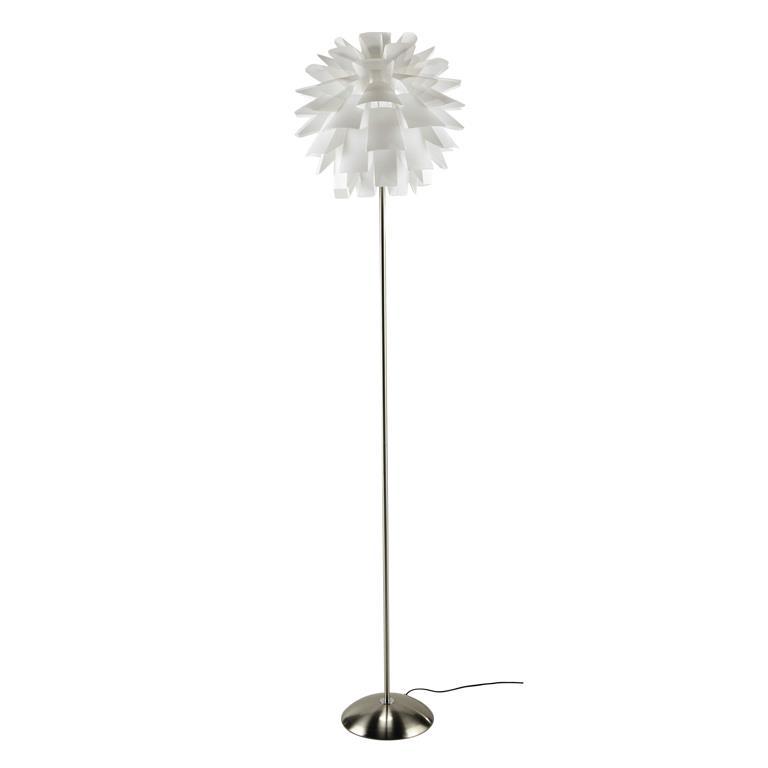 Lampadaire en métal blanc H 180 cm GENOVA