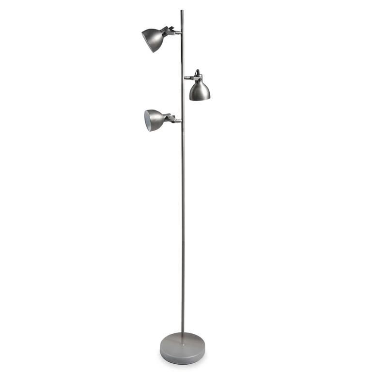 Lampadaire 3 spots en métal H