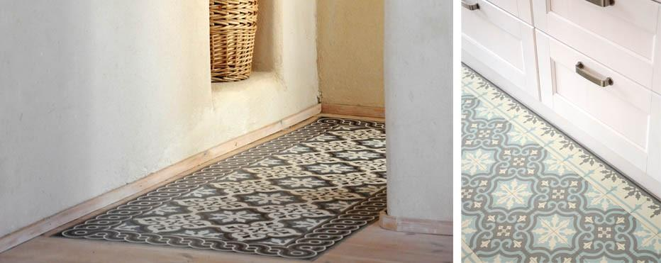 Excellent tapis imitation carreaux de ciment with balatum for Tapis carreaux de ciment saint maclou