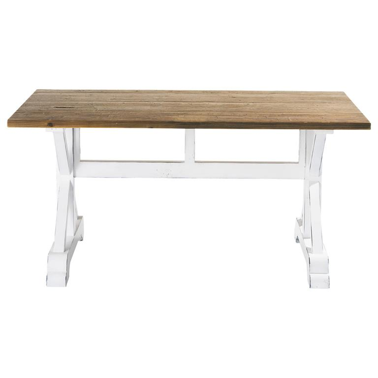 Table de salle à manger en lattes de bois recyclé L 160