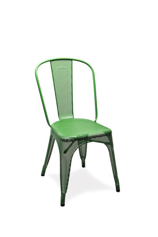 Chaise A perforée vert gazon