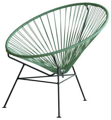 Fauteuil bas Condesa - OK Design pour Sentou Edition vert océan en métal