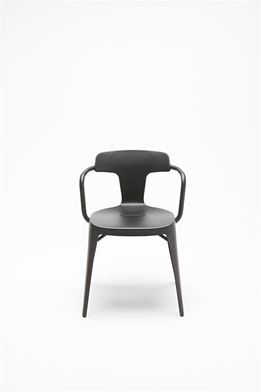 Chaise T14 inox noir