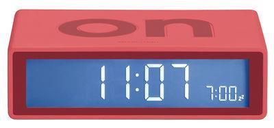 Réveil Flip LCD - Lexon vermillon en matière plastique