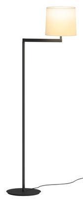Lampadaire Swing / H 128 cm - Vibia gris graphite en métal