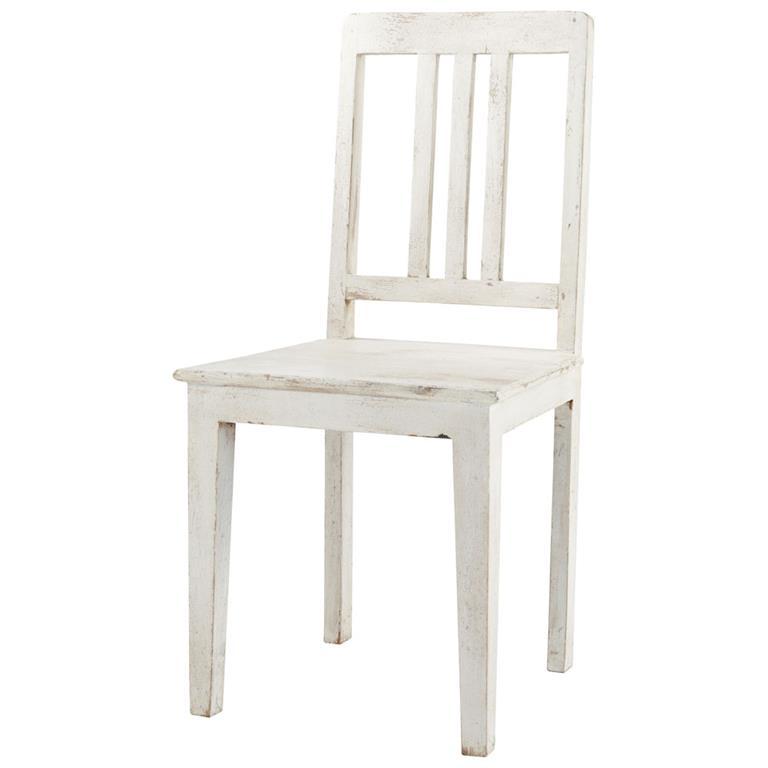 Chaise en manguier blanche effet vieilli Avignon