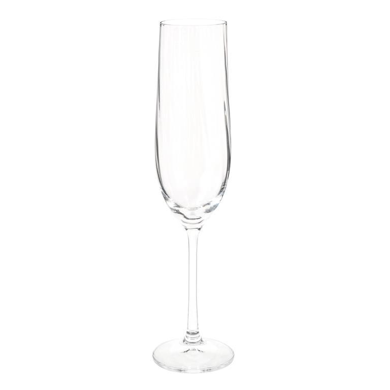 Flûte à champagne en verre WATERFALL