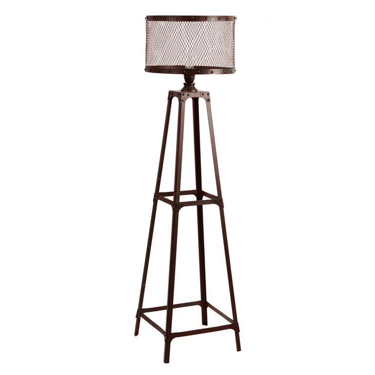 Lampadaire loft en métal marron H 137 cm LOUIS